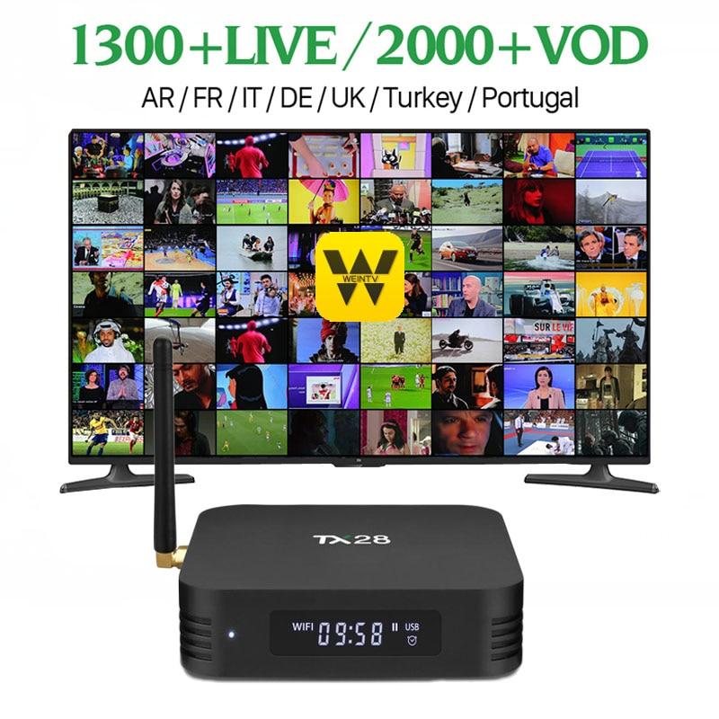 лучшая цена Wechip TX28 set-top box 4GB/32GB 4K Android TV Box 7.1 RK3328 Quad Core 100M LAN 2.4G/5GHz Wifi BT4.1 H.265 HDR10 Smart TV Box