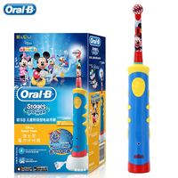 Oral B Children Braun Electric Toothbrush D10 Music Timer Rechargeable Sonic Tooth Brush Mickey Mouse For