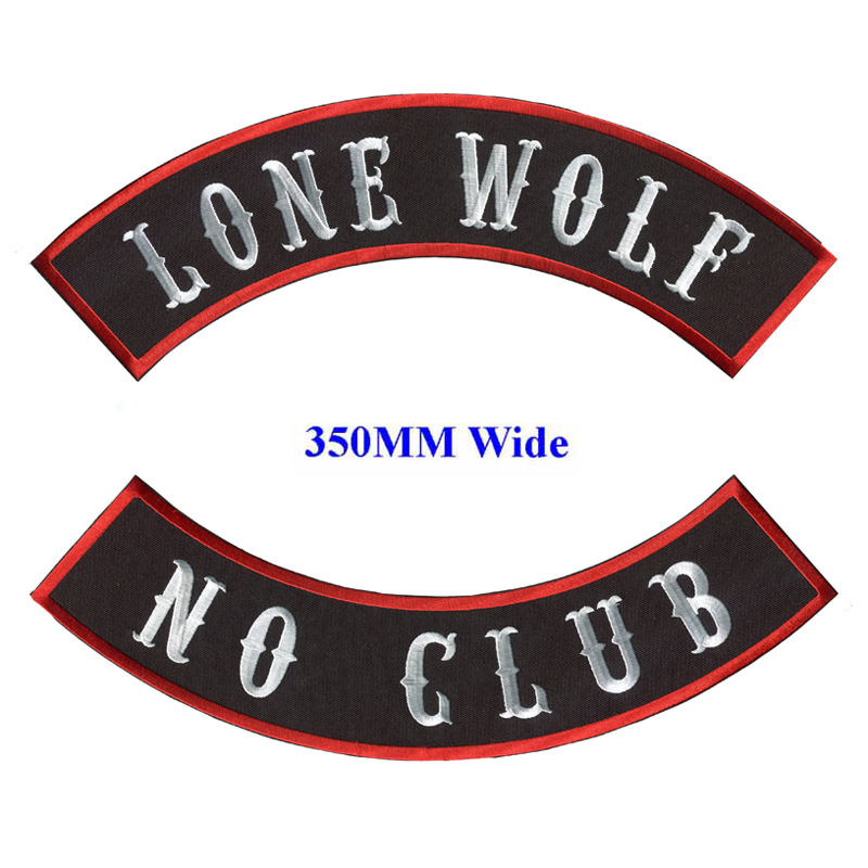 LONE WOLF PATCH ROCKER FOR BIKER MOTORCYCLE PATCH FOR VEST JACKET NEW