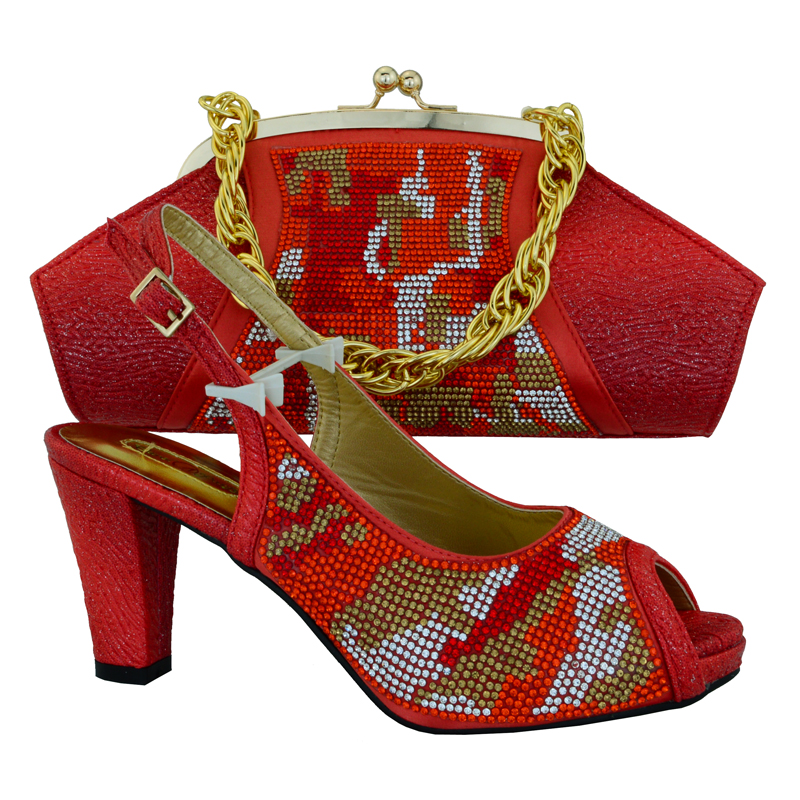 262c95b1862 Fancy Design Ladies Matching Shoes And Bags,Flower Print African Shoes And  Bag Set For Party In Women Pumps MM1013 Red-in Women's Pumps from Shoes on  ...