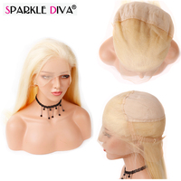 Sparkle Diva Full Lace Human Hair Wigs With Baby Hair Pre Plucked Natural Hairline Mongolian Remy Hair Lace Wig Bleached Knots