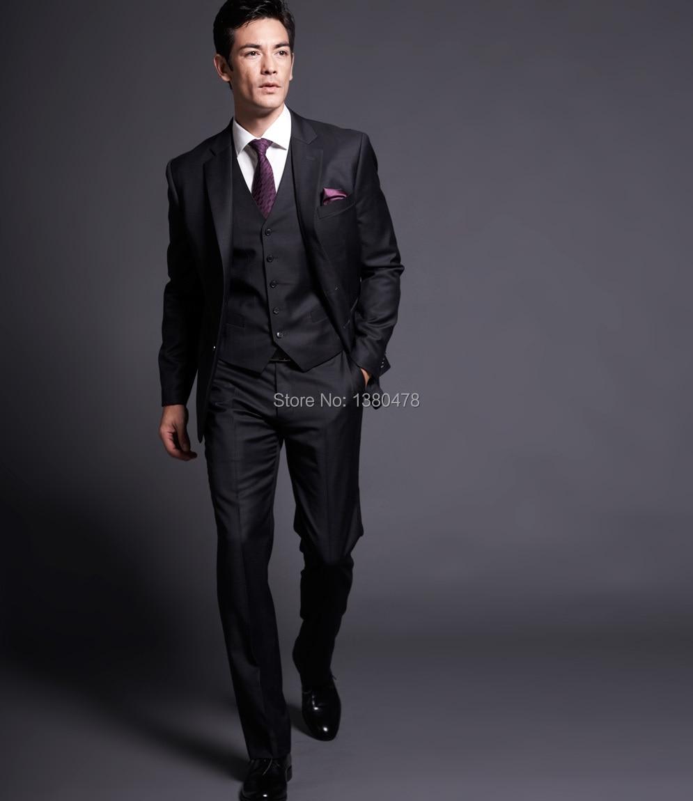 veste Deux Noir De D'honneur Costumes Homme Boutons Custom Smokings Marié Pantalon Hommes 2016 Notch Mariage Garçons Revers Gilet Cravate Meilleur Made CqEfTwt