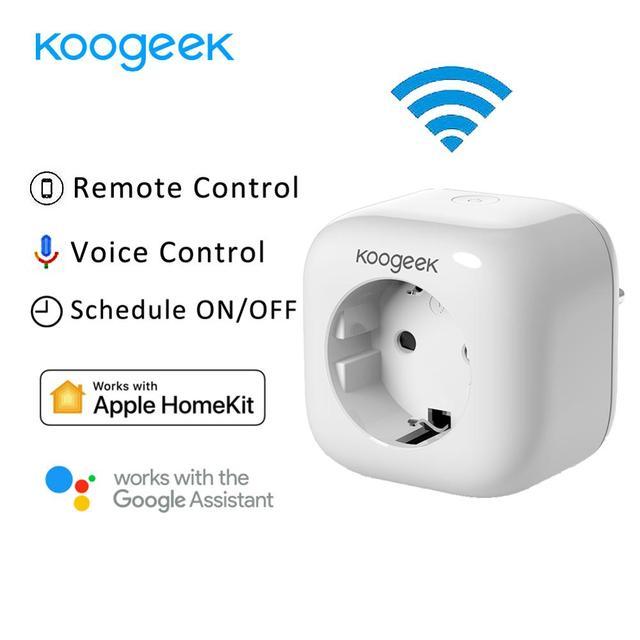 Koogeek inteligentne gniazdo WiFi wtyczka dla Apple HomeKit Alexa asystent Google APP sterowania monitoruj zużycie energii domu inteligentne gniazdko