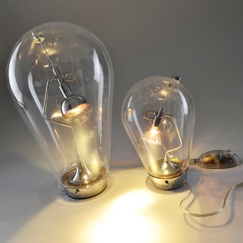 Loft Bulb Design Italy Blow Table Lamp Glass Bottle Desk Light