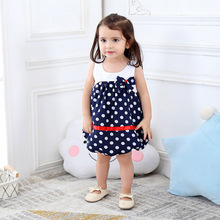 New casual girls polka dot princess dress/2019 Arrived Summer baby girl lantern dress