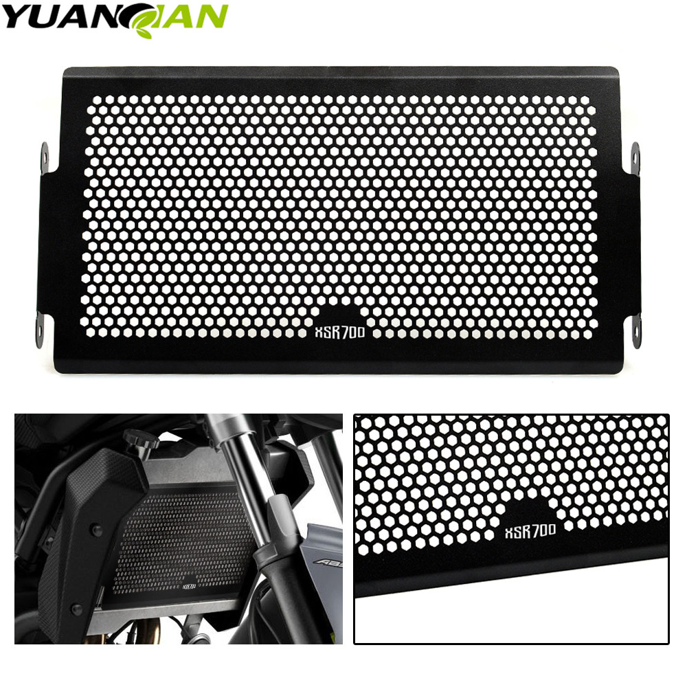 2018 NEW <font><b>CNC</b></font> For Yamaha XSR700 2015 2016 <font><b>2017</b></font> 2018 Stainless Steel Protector Motorcycle radiator grille guard protector XSR 700 image