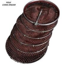 diameter 33cm-45cm fishing bag outdoor Fishing supplies rede de pesca nylon network tool 11 sizes
