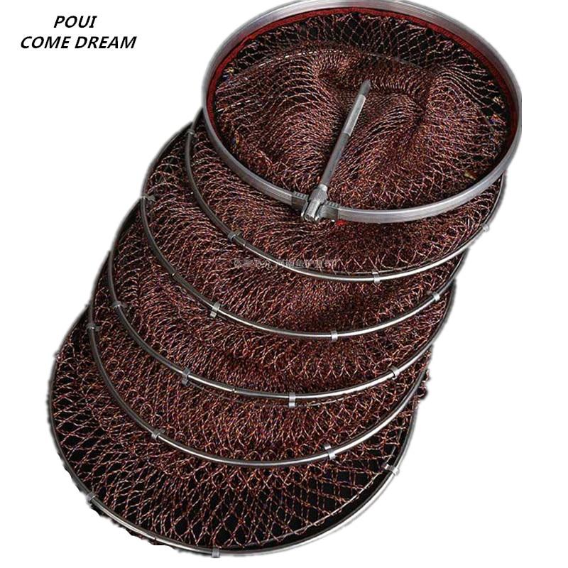 forte diametro 33 cm 45 cm saco de pesca ao ar livre suprimentos de pesca rede