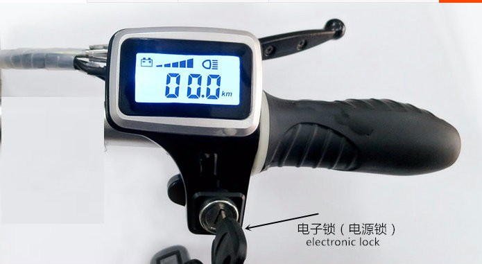 throttle with lock and display