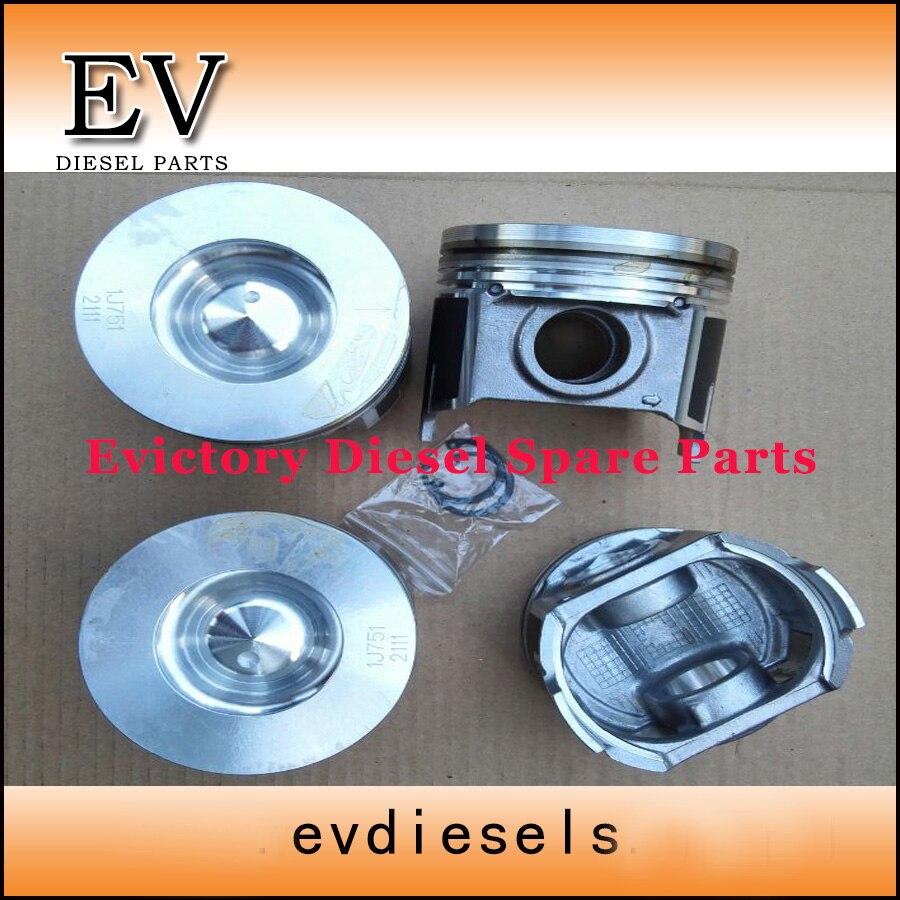 Набор для восстановления двигателя Kubota V3307 V3307T поршневое кольцо гильза цилиндра полный комплект прокладок коленчатого вала комплект подши...