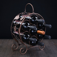 Красное вино разливают винный шкаф frame Европейская мода винные полки железные украшения ограниченной территории