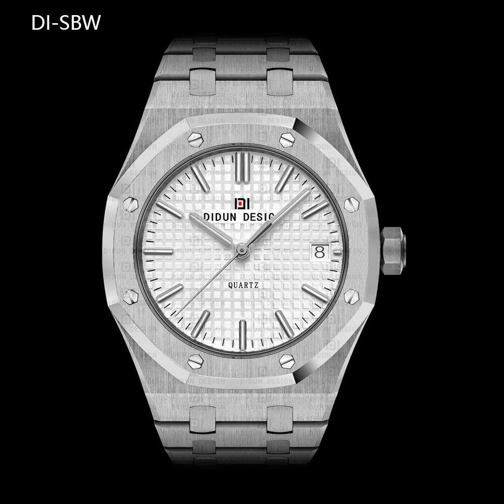 ФОТО DIDUN Mens Simple Watches Top Brand Luxury Quartz Watches Men Business Dress Steel Wristwatch  Luminous 30m Water resistant