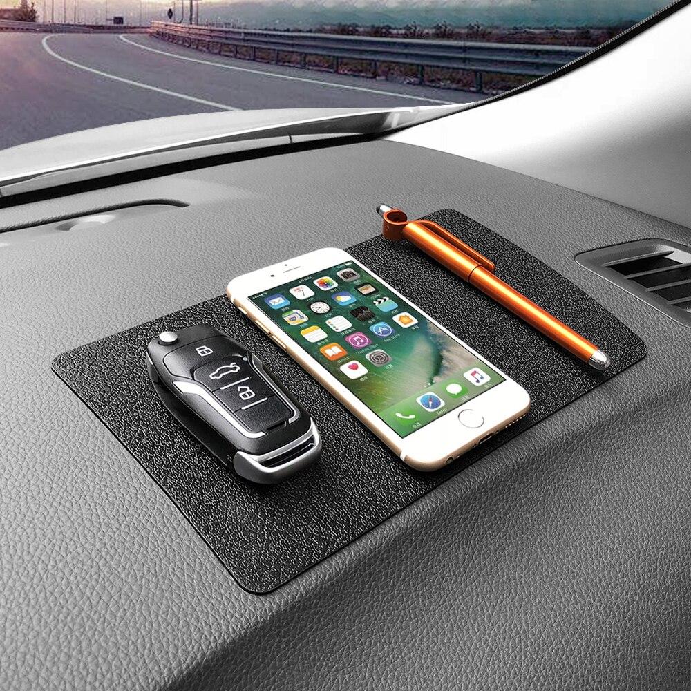 Coche antideslizante Mat Ornament silicona Multi-función sin Pad Dashboard decoración vasos clave celular teléfono 22,5x14,5 cm