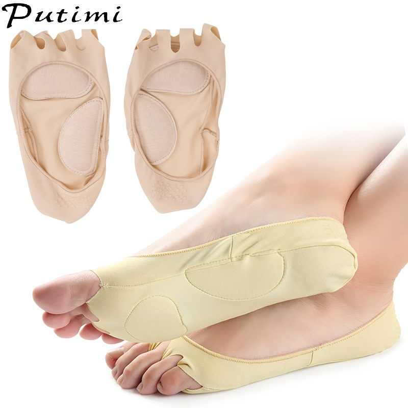 Putimi 3pair Plantar Fasciitis Arch Support Insole Pedicure Socks Invisible Toe Socks Pain Relief Orthopedic Flatfoot Foot Care