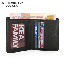 Men wallet luxury brand genuine leather cowhide mini change purse small Money Bag male clutch Female Slim pouch Card Holders