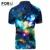 Forudesigns fresco galaxy espacio de impresión de las estrellas de los hombres polo camisas marcas de verano casual camisa de algodón de manga corta polo camisa de los hombres