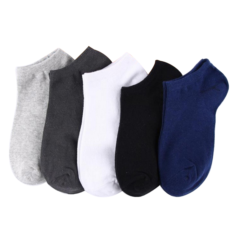 5 Pairs Men Ankle Socks Summer Autumn Breathable Cotton Mens Socks Boat Short Ankle Invisible Socks Casual Male Sock Meias Sox