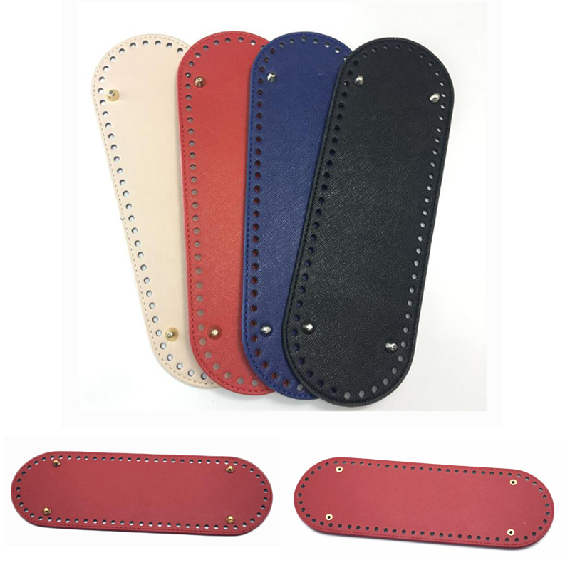 30x10cm Bag Bottom Leather Bottoms With Holes Bag Accessories & DIY Part PU Glossy For Handbag Crossbody Messenger Bags Bottom