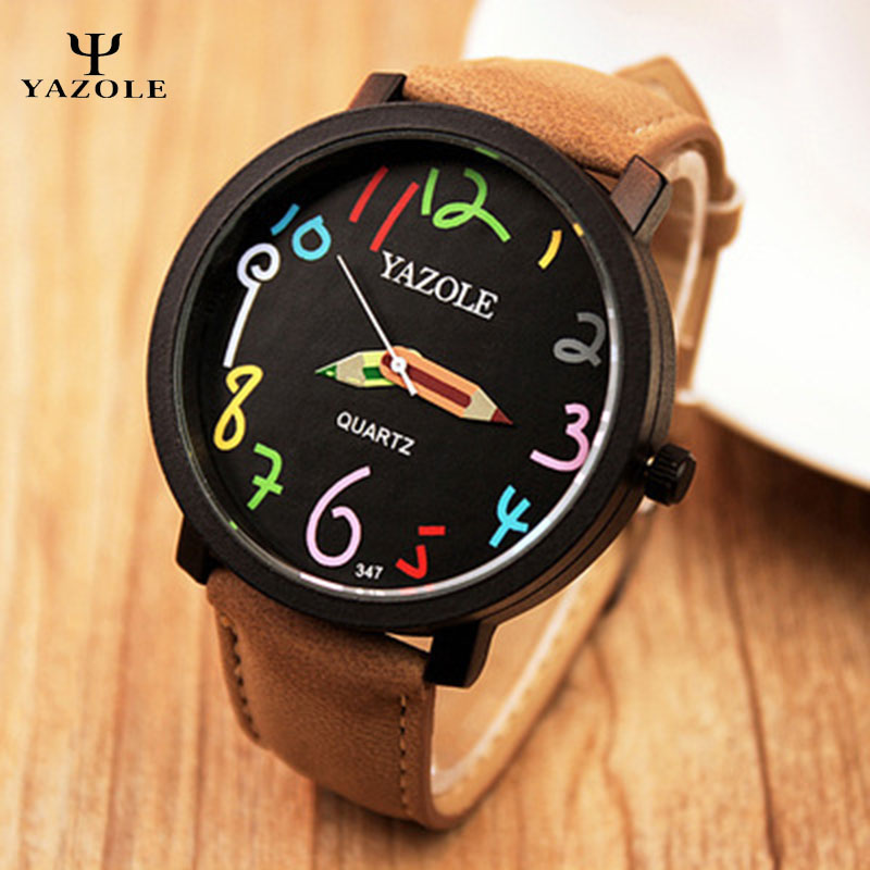 YAZOLE fashion & casual digit Quartz Watch Women Wrist Watches student watch Ladies Wristwatch Relogio Feminino relojes mujer