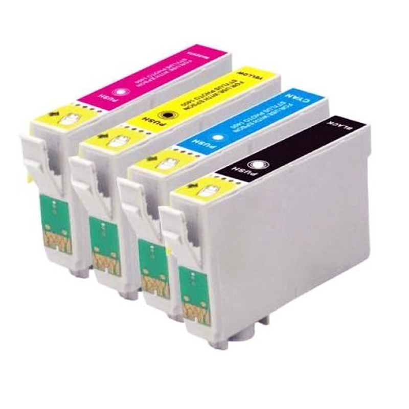 4 X T0711 T0715 Ink Cartridge For Stylus SX110 SX215 SX218 SX400 SX405 SX405WiFi SX410 SX415 SX510W SX515W DX7400 DX8400 Printer