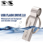 Suntrsi USB Flash Drive 128GB 64GB Pendrive Metal USB Memoria Stick High Speed USB 2.0 32GB Flash Drive Mini Pen Drive Free Ship