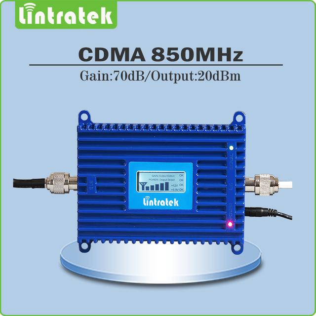 70dB de ganancia CDMA 850 mhz señal móvil de refuerzo repetidor de celular 850 mhz CDMA repetidor amplificador de señal con la exhibición del lcd