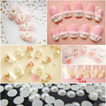 2mm 50pcs flat abs semicircle pearl imitation pearl diy mobile Nail Stickers beauty paste drill nail material nail accessories