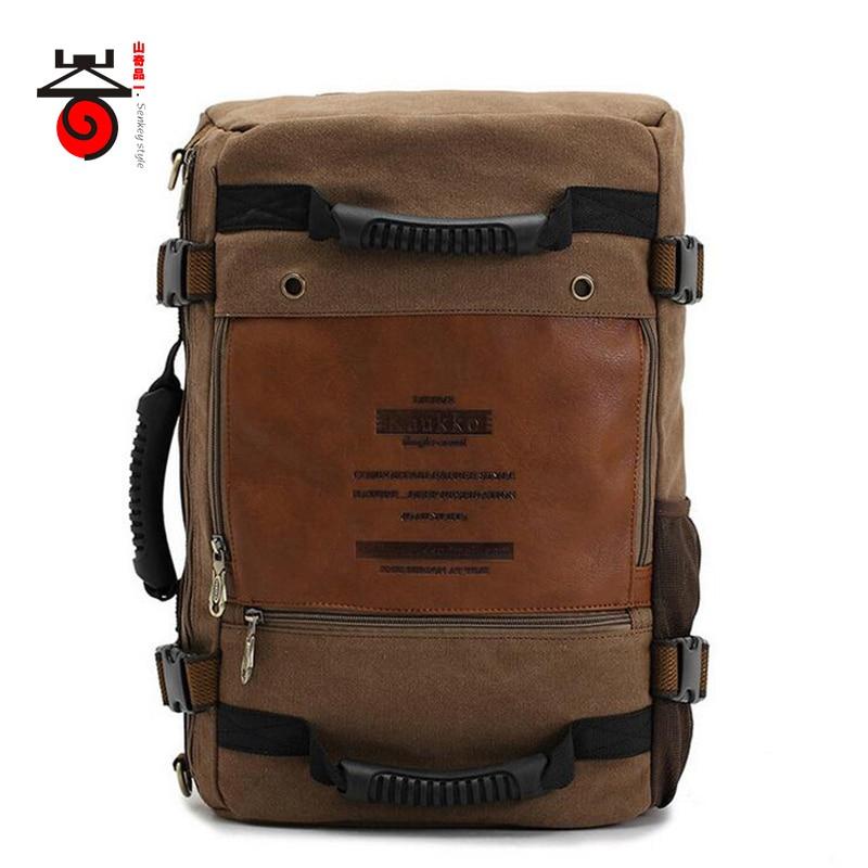 724ebb3c5f60 Senkey style MULTIFUNCTION Men Canvas Backpack Fashion Large Capacity  Rucksacks Casual Travel for Laptop Backpacks School Bags
