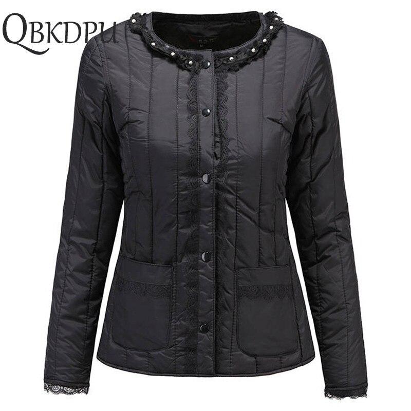 Women Down Cotton Warm Jacket   Parkas   2019 New Women Autumn Winter Ultra Light Soft Ladies Coat Long-sleeved Liner Cotton Coat