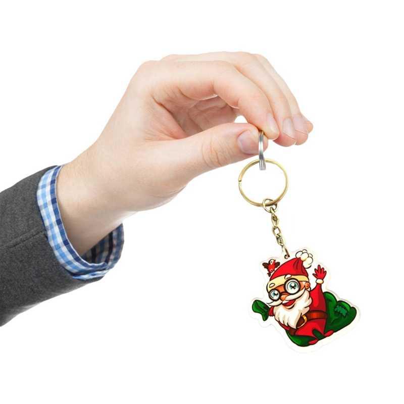 Papai Noel/Árvore/Meias/Boneco de Neve/Halloween Abóbora Chaveiros Chaveiros Presentes de Natal Bonito Da Árvore de NATAL Charme Chave chian Jóias
