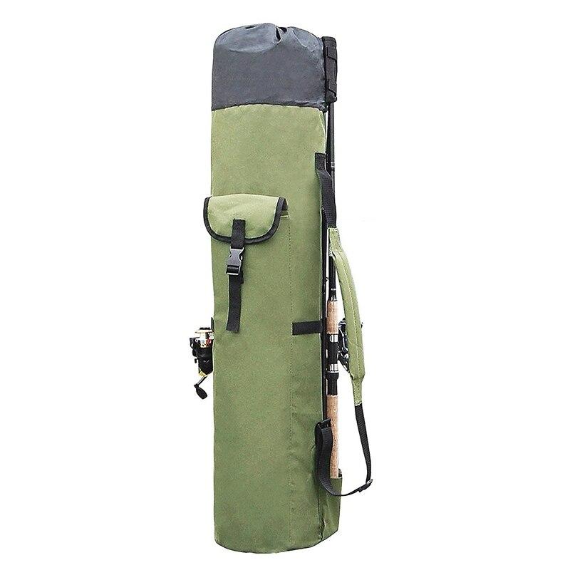 Fishing Bags Portable Multifunction Nylon Fishing Rod Storage Case Canvas Reel Organizer Travel Carry Pole Tools Bag Rod Combo     - title=