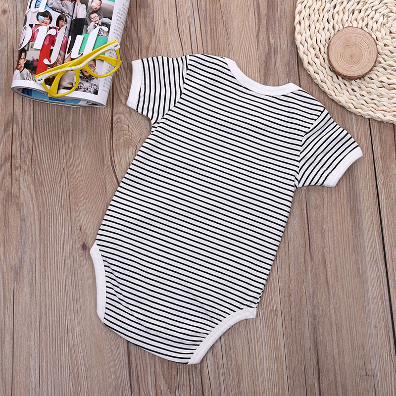 2018 Fashion Cute Milk Belly Letter Print Newborn Baby Boys Cotton Bodysuit Jumpsuit Outfits Set Summer Sunsuit