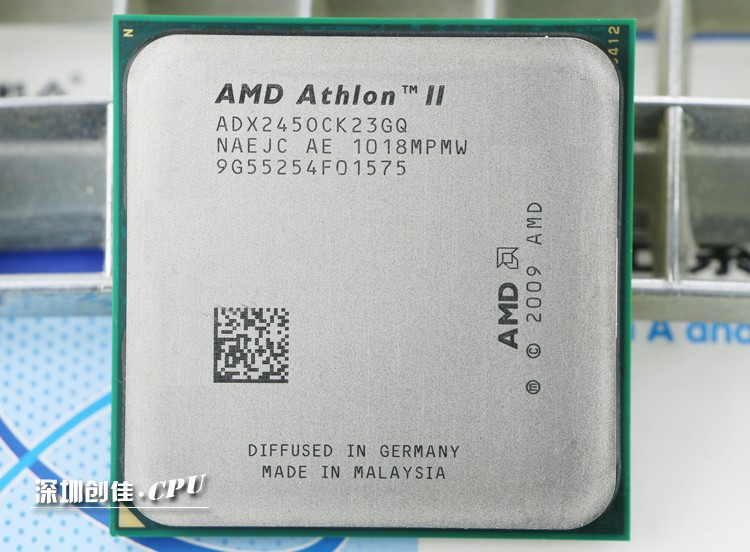 Free shipping AMD Athlon II x2 245 AM3 2.9GHz 2MB bulk CPU 9.5 New guarantee 1 year shipping free scrattered pieces