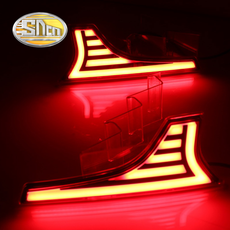 SNCN Multi-functions Car LED Rear Fog Lamp Brake Light Bumper Light Auto Bulb Decoration Lamp For Suzuki Ertiga 2016 2017 2018