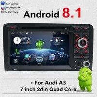 Bosion 7 дюймов, двойной DIN Android 8,1 стерео dvd плеер мультимедиа с gps навигации для Audi A3 2003 2011, головное устройство