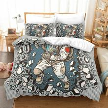 3D Cosplay Astronaut bedding set Twin Queen King duvet cover cotton polyester  comforter sets bedclothes bed linen