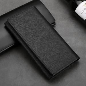 Image 2 - Genuine Leather Pouch For Iphone 11 12 Pro XS Max Case Universal Holster bag For Iphone XR 6 7 8 Plus SE 2020 Case Wallet Pocket