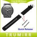 18mm Correa de Reloj De Caucho De Silicona con Pasador de Liberación Rápida de Withings activité/acero pop smart watch band pulsera de la resina correa