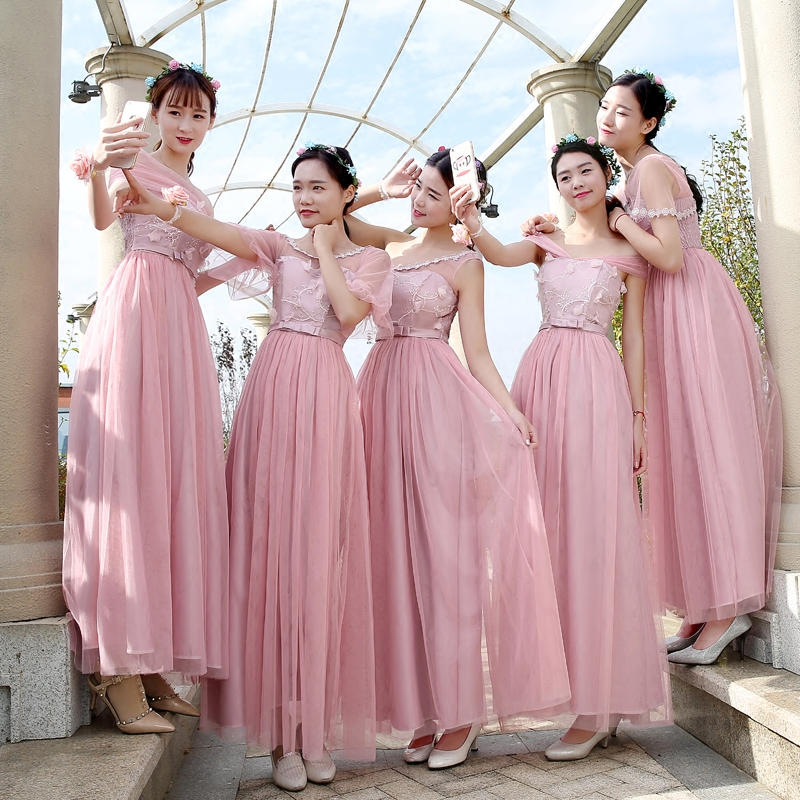 drnwof 2017 New Long Cheap Bridesmaid Dresses Wedding Party Dress ...