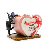 DIY Studio Ghibli Miyazaki Kiki's Delivery Service Kiki Cat Rose Heart Shaped Flower Pot PVC Action Figure Toys Decoration Toys