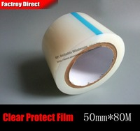 50mm 80M Single Sided Self Adhesive Transparent PE Protect Film For Phone Electric Parts Mp3 GPS