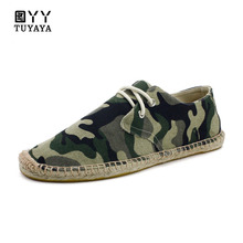 Slip-On Fisherman Shoes Men 2019 Brand New Breathable Amy Green Camouflage Hemp Shoes Men Espadrilles Flats Solid Moccasins ask amy green wedding belles