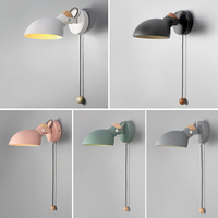 Nordic Indoor Led Angle Adjustable Wall Lamp Fixture With Switch Modern Bedside Room Reading Lights Corridor Hallway Home Decor