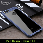 ipaky Brand coque Huawei honor 7x case Silm huawei honor 7 x case transparent cover + Silicone Frame For huawei honor7x cases