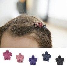 Ideacherry/10 шт. мини-заколки для волос, новые детские аксессуары, заколки для волос, детские тканевые заколки с бантом и цветком, заколки для волос для девочек, головной убор