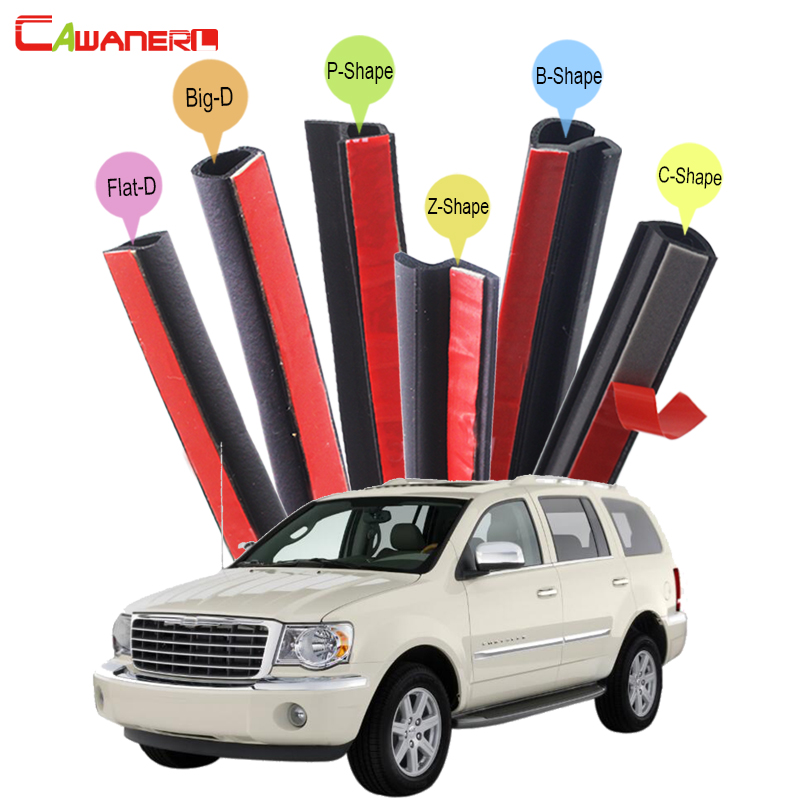 Cawanerl Whole Car Rubber Sealing Seal Strip Kit Sound Insulation Seal Edge Trim Weatherstrip For Chrysler Aspen PT Cruiser cawanerl car rubber seal strip kit noise insulation seal edge trim weatherstrip self adhesive for jeep compass patriot liberty