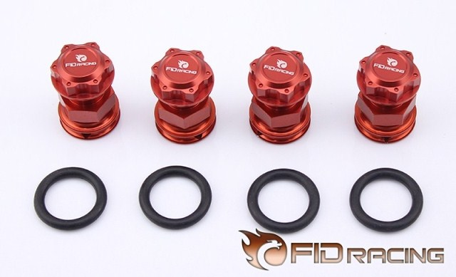 LOSI 5ive-T Axle Extenders and wheel nut billet rear hub carriers for losi 5ive t