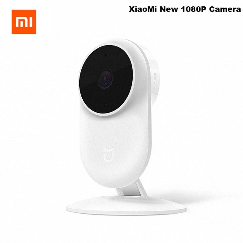 Origine Xiao mi mi mi jia 1080 p Smart ip Webcam 130 Degrés 2.4g/5g Wi-Fi 10 m Infrarouge Nuit Vision + NAS mi c Haut-Parleur Maison Cam