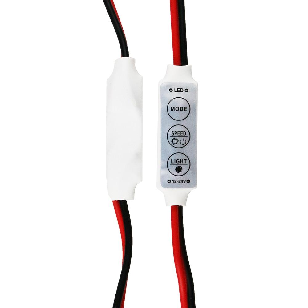 12V Mini 3 Keys Single Color LED Controller Brightness Dimmer For Led 3528 5050 Strip Light Free Shipping Wholesale 1PCS Rgbww