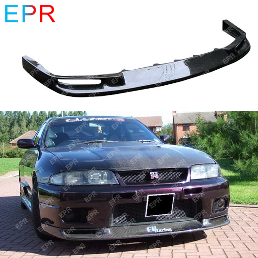 For Nissan Skyline R33 Carbon Fiber Front Lip Body Kit Auto Tuning Part For GTR R33 GTR JUN Front Lip image